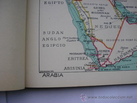 Mapas contemporáneos: ATLAS UNIVERSAL DE LOS AÑOS 50,CONTIENE 78 MAPAS INDIVIDUALES, DE J.VÁZQUEZ-DIBUJO JUAN D.HOYOS. - Foto 8 - 34975090