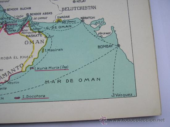 Mapas contemporáneos: ATLAS UNIVERSAL DE LOS AÑOS 50,CONTIENE 78 MAPAS INDIVIDUALES, DE J.VÁZQUEZ-DIBUJO JUAN D.HOYOS. - Foto 7 - 34975090