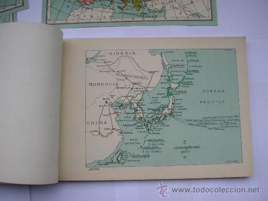 Mapas contemporáneos: ATLAS UNIVERSAL DE LOS AÑOS 50,CONTIENE 78 MAPAS INDIVIDUALES, DE J.VÁZQUEZ-DIBUJO JUAN D.HOYOS. - Foto 6 - 34975090