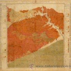Mapas contemporáneos: MAPA GEOLÓGICO Y TOPOGRÁFICO PROVINICIA DE BARCELONA. REGÍÓN 4ª RIO TORDERA (MARESME).1918. ALMERA.. Lote 35411240