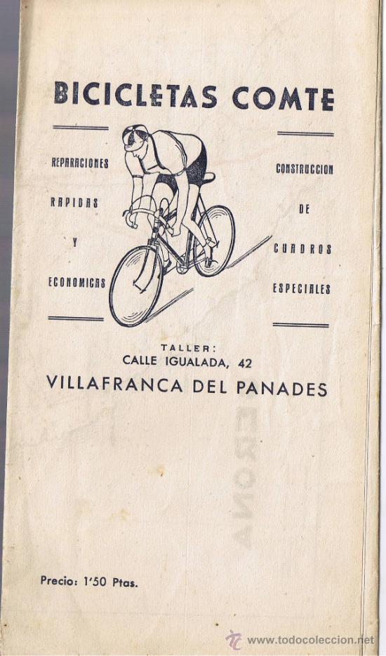 MAPA DE GERONA - BICICLETAS COMTE - VILAFRANCA DEL PENEDÈS - 42 X 32 CMS - FOTO ADICIONAL (Coleccionismo - Mapas - Mapas actuales (desde siglo XIX))