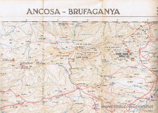 ATLAS MONTAÑERO - Nº 25 - CORDILLERAS COSTERAS CATALANAS - 1968 - 1ª EDICIÓN - MIDE 98 X 73'5 CMS (Coleccionismo - Mapas - Mapas actuales (desde siglo XIX))