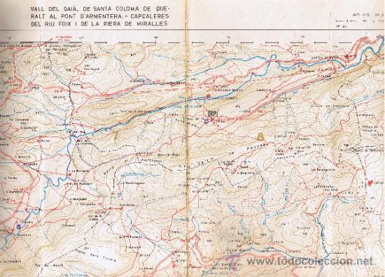 Mapas contemporáneos: ATLAS MONTAÑERO - Nº 25 - CORDILLERAS COSTERAS CATALANAS - 1968 - 1ª EDICIÓN - MIDE 98 x 735 cms - Foto 3 - 35546205