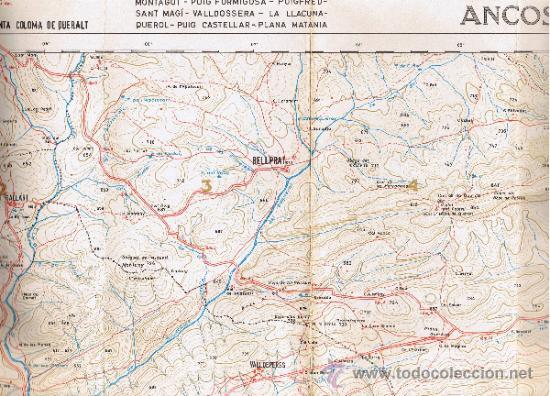 Mapas contemporáneos: ATLAS MONTAÑERO - Nº 25 - CORDILLERAS COSTERAS CATALANAS - 1968 - 1ª EDICIÓN - MIDE 98 x 735 cms - Foto 2 - 35546205