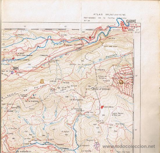 Mapas contemporáneos: ATLAS MONTAÑERO - Nº 25 - CORDILLERAS COSTERAS CATALANAS - 1968 - 1ª EDICIÓN - MIDE 98 x 735 cms - Foto 4 - 35546205