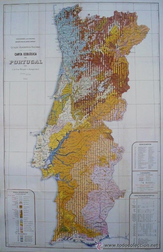 cm lisboa mapa carta ecológica de portugal de j. de pina maniq   Comprar Mapas  cm lisboa mapa