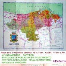 Mapas contemporáneos: 1929. ALFONSO XIII.- MAPA-GUIA DE LA PROVINCIA DE SANTANDER.. Lote 35634054