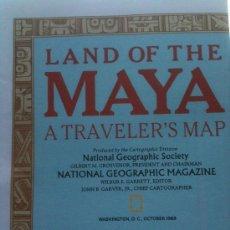 Mapas contemporáneos: NATIONAL GEOGRAPHIC MAPA TIERRA DE LOS MAYAS - OCTUBRE 1989. Lote 134005657