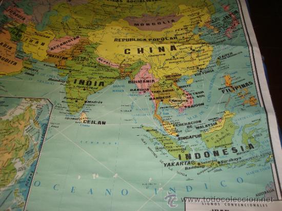 mapa de asia politico  Comprar Mapas contemporneos en