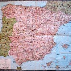 Mapas contemporáneos: MAPA GENERAL DE CARRETERAS ESPAÑA 1965. Lote 35833223