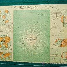 Mappe contemporanee: FIGURAS DE COSMOGRAFIA Y CARTOGRAFIA- MAPA - SALVADOR SALINAS BELLVER - 23X30 CM - 1947 . Lote 35893003