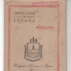 Mapas contemporáneos: PLANO DE CARRETERAS OBSEQUIO CÍA. ANÓNIMA DE SEGUROS Y REASEGUROS ( SEVILLA ).DELEGACIÓN TRUJILLO. Lote 36382349