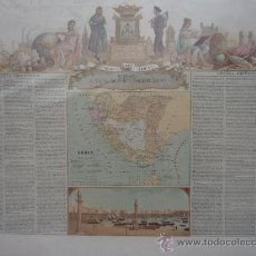 Mapas contemporáneos: CADIZ.- MAPA BORONAT SIGLO XIX.- TAMAÑO 71,5X53 CM.- CROMOLITOGRAFÍA.- VER FOTOGRAFIAS ANEXAS. Lote 36080037