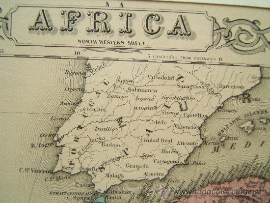 Worksheet. africa  north western sheet  george woolworth  Comprar Mapas
