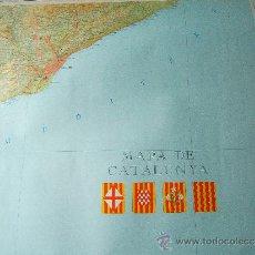 Mapas contemporáneos: MAPA DE CATALUNYA - 4 MAPAS PAPEL GRUESO QUE JUNTOS FORMAN CATALUNYA - 85X80 CM CADA UNO - AÑO 1974 . Lote 36195322