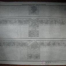 Mapas contemporáneos: 1850 MAPA COELLO UNICO 4ª HOJA SUPLEMENTO DE LEON Y ESTREMADURA (SIC) CARTULINA SIN PLEGAR. Lote 36277071