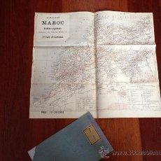 Mapas contemporáneos: MAPA O PLANO DE MARRUECOS. MAROC. MILITAR GUERRA DE AFRICA. REALIZADO POR PETIR JOURNAL. 57X52CM. Lote 36363542