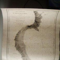 Mapas contemporáneos: 1834-MAPA CARTA NAÚTICA. ARZEW. ORÁN. ARGELIA. MUY GRANDE. 67X51 CM. ORIGINAL. Lote 36430037