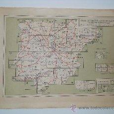 Mapas contemporáneos: MAPA ENTELADO DE ESPAÑA DEL REAL AUTOMOVIL CLUB - MAPA DE CARRETERAS- HOJA DE CONJUNTO AÑOS 20 . Lote 36593403