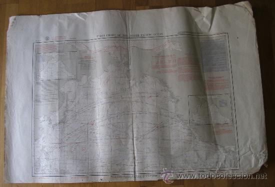 MAPA DE NAVEGACION DEL OCEANO PACIFICO (NORTE), Nº1401, MARINA AMERICANA, SEPT 1961 (77X114CM APROX) (Coleccionismo - Mapas - Mapas actuales (desde siglo XIX))