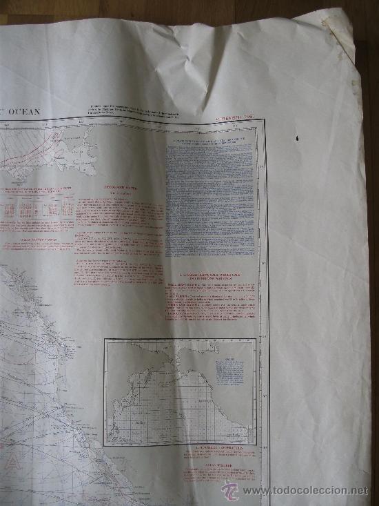 Mapas contemporáneos: mapa de navegacion del oceano pacifico (norte), nº1401, marina americana, sept 1961 (77x114cm aprox) - Foto 3 - 36713058