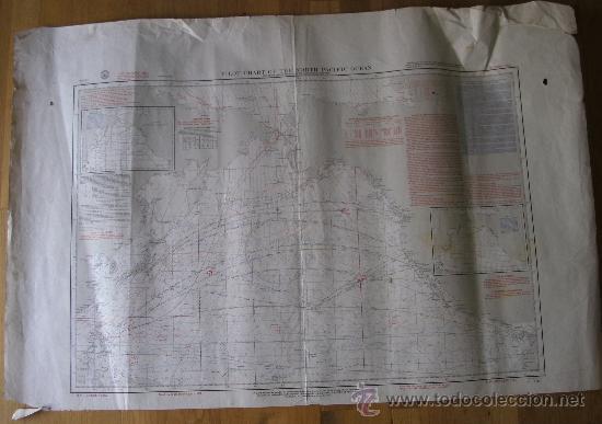 MAPA DE NAVEGACION DEL OCEANO PACIFICO (NORTE), Nº1401, MARINA AMERICANA, OCT 1961 (77X114CM APROX) (Coleccionismo - Mapas - Mapas actuales (desde siglo XIX))