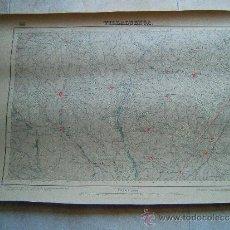Mapas contemporáneos: VILLALUENGA-CEDILLO-CAMARENA-RECAS-EL VISO-UGENA-YUNCLER-AZAÑA-MAPA 47X68 CM-1881-1ª EDICION. . Lote 36996917
