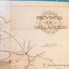 Mapas contemporáneos: MAPA ANTIGUO DE LA PROVINCIA DE VALLADOLID.. Lote 37027605