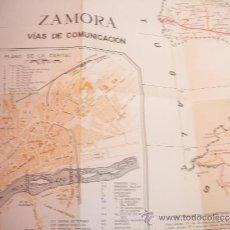 Mapas contemporáneos: MAPA DE ZAMORA,VIAS DE COMUNICACIONES.AÑO 1968.ESCALA; 1:250.000.. Lote 37036281