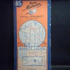 Mapas contemporáneos: MAPA MICHELIN FRANCIA - FRANCE Nº 85 BIARRITZ - LUCHON. Lote 37166977
