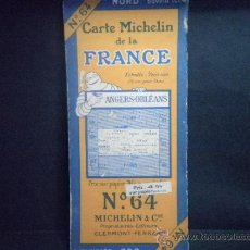 Mapas contemporáneos: MAPA MICHELIN FRANCIA - FRANCE Nº 64 ANGERS - ORLEANS. Lote 37167003