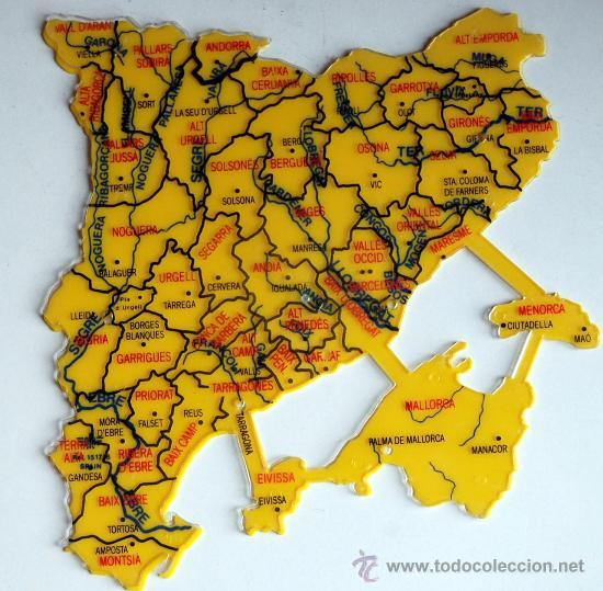 mapa dfh de catalua y baleares 3 plantillas  Comprar Mapas