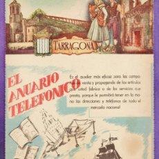Mapas contemporáneos: LISTIN TELEFONICO - PORTADA PROVINCIA - TARRAGONA - ESCUDO - TGN - DORSO MAPA / FOTO - AÑOS 50 -. Lote 37373812