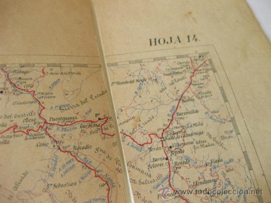 Mapas contemporáneos: MAPA MILITAR ITINERARIO DE ESPAÑA - HOJA 14 - DESPLEGABLE - Foto 5 - 37499725