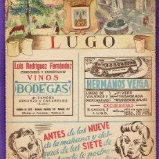 Mapas contemporáneos: LISTIN TELEFONICO - PORTADA PROVINCIA - LUGO - PUB. VARIAS - DORSO MAPA / FOTO - AÑOS 50 -. Lote 37483798