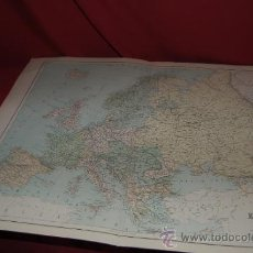 Mapas contemporáneos: MAPA DE EUROPA, ATLAS UNIVERSAL DE WILLIAM HUGES, AÑO 1886.. Lote 37597842