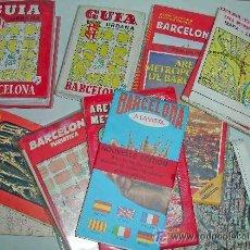 Mapas contemporáneos: MAPAS Y GUIAS DE BARCELONA DECADA DE LOS 80. Lote 37631802