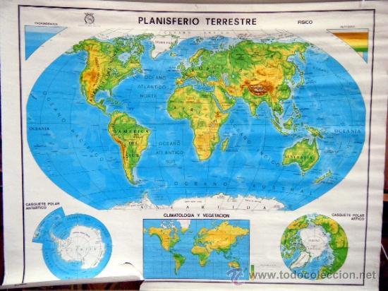 Mapa Mundi Politico Y Planisferio Terrestre Da Sold Through