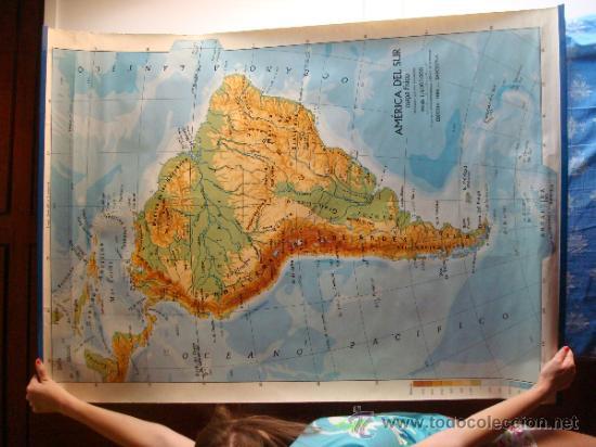 mapa fisico de america del surojo  Comprar Mapas contemporneos