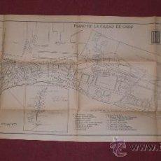 Mapas contemporáneos: PLANO DE LA CIUDAD DE CÁDIZ. BANCO DE BILBAO. AÑOS 50. Lote 38175658