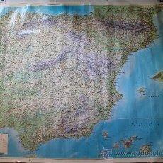 Mapas contemporáneos: MAPA DE ESPAÑA FISICO Y GEOLOGICO - ESCALA 1:1.000.000 – GRANDES DIMENSIONES 127 X 97 CM . Lote 38359248