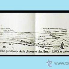 """Mapas contemporáneos: PLANO ALARGADO CON EL PUNTO DE VISTA;""""VERTICE GEODESICO DE LA SIERRA DE STA. ANA - 1265 M. S/ EL MAR. Lote 38394614"""