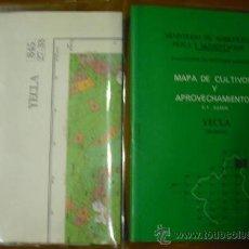 Mapas contemporáneos: MAPA DE CULTIVOS Y APROVECHAMIENTOS DE YECLA. Lote 38604510