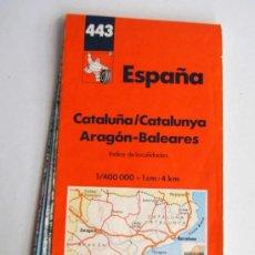 Mapas contemporáneos - MAPA MICHELIN 443 ESPAÑA CATALUÑA ARAGON BALEARES AÑO 1994 - 38690633