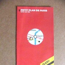 Mapas contemporáneos: MAPA PLANO DE METRO Y BUS DE PARIS - PETIT PLAN DE PARIS. Lote 38839111