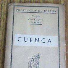 Mapas contemporáneos: MAPA ENTELADO CUENCA PROVINCIA - EDT MARTÍN. Lote 38908513