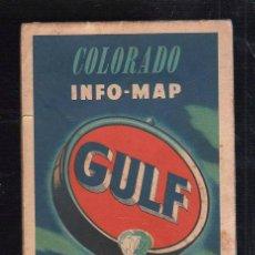 Mapas contemporáneos: MAPAS DE CARRETERA. AÑOS 50. GULF. MAPA DE COLORADO.. Lote 39163558