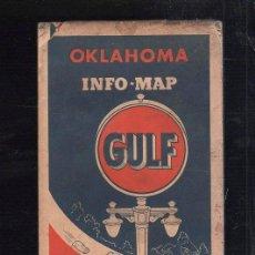 Mapas contemporáneos: MAPAS DE CARRETERA. AÑOS 50. GULF. MAPA DE OKLAHOMA.. Lote 39163572