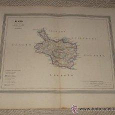 Mapas contemporáneos: MAPA DE ÁLAVA POR D.MARTIN FERREIRO. GASPAR Y ROIG EDITORES MADRID. 1864. Lote 39592677