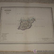 Mapas contemporáneos: MAPA DE GUIPÚZCOA POR D.MARTIN FERREIRO. GASPAR Y ROIG EDITORES MADRID. 1864. Lote 39593025